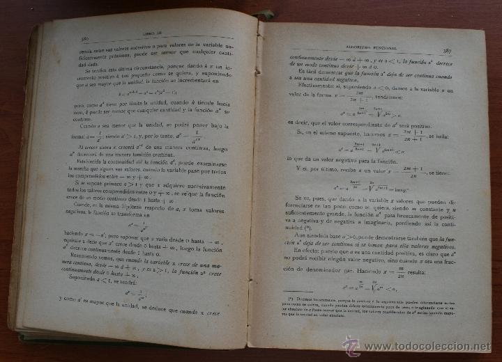 Libros antiguos: ALGEBRA – SALINAS Y BENITEZ SUCESORES DE HERNANDO MADRID 1885 – FIRMADO – INSTRUCCIÓN MILITAR - Foto 5 - 47011495