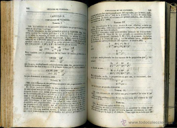Libros antiguos: CIRODDE : LECCIONES DE GEOMETRÍA (1858) CON 19 LÁMINAS DESPLEGABLES - Foto 3 - 47125505