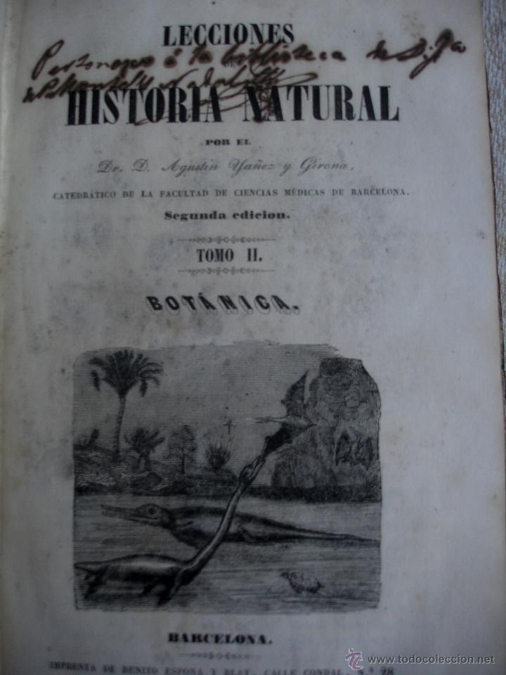 LECCIONES DE HISTORIA NATURAL BOTANICA 1845 (Libros Antiguos, Raros y Curiosos - Ciencias, Manuales y Oficios - Bilogía y Botánica)