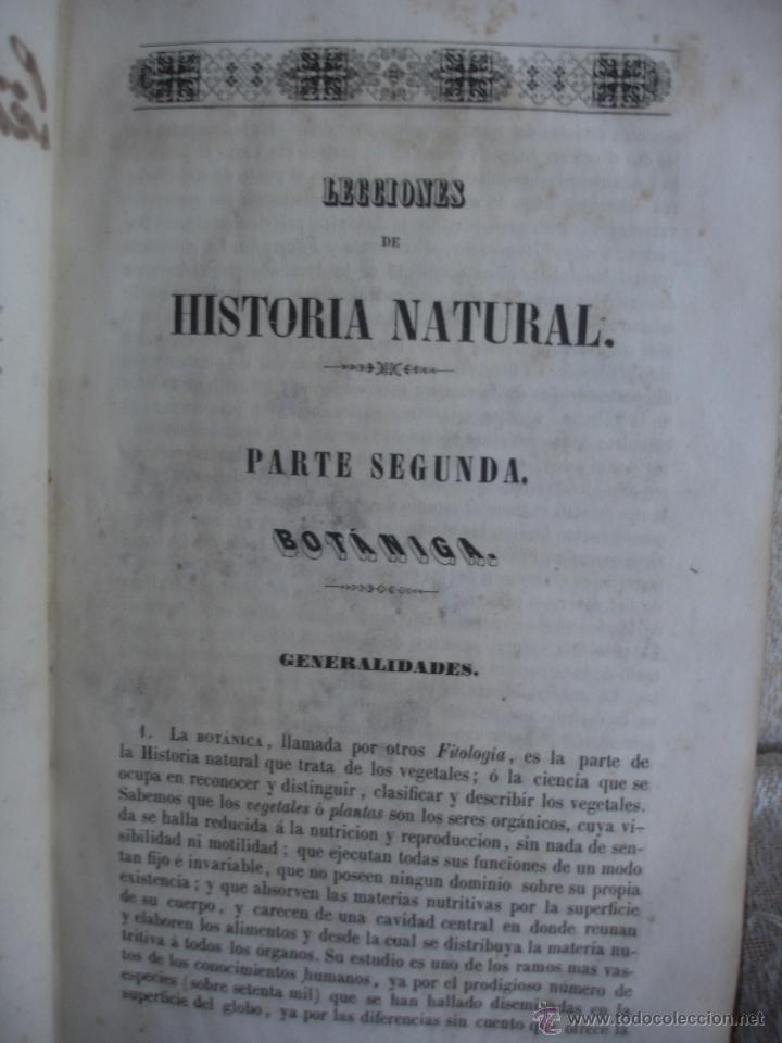 Libros antiguos: Lecciones de historia natural BOTANICA 1845 - Foto 3 - 47650582