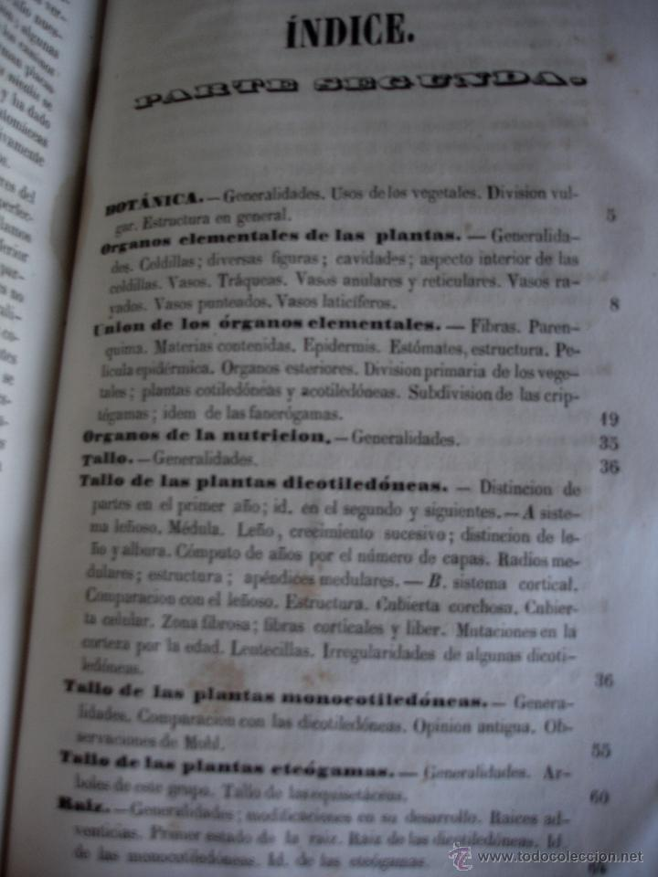Libros antiguos: Lecciones de historia natural BOTANICA 1845 - Foto 7 - 47650582