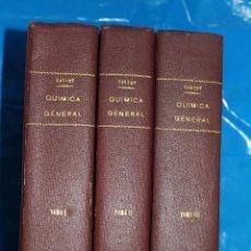 Libros antiguos: QUIMICA GENERAL APLICADA A LA INDUSTRIA CON PRACTICAS DE LABORATORIO - 3 TOMOS - 1ª EDI. 1930. Lote 47862558