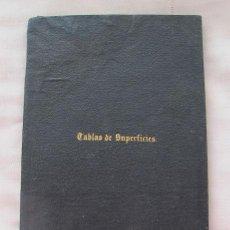 Libros antiguos: TABLAS DE SUPERFICIES DESMONTES Y TERRAPLENES 1888 TOPOGRAFIA. Lote 48138021