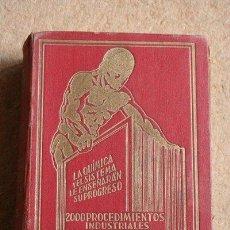 Libros antiguos: 2000 PROCEDIMIENTOS INDUSTRIALES AL ALCANCE DE TODOS. FORMOSO FERMUY (ANTONIO). Lote 48151736