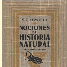 Libros antiguos: NOCIONES DE HISTORIA NATURAL. SCHMEIL. SEGUNDO GRADO. EDIT. G. GILI. BARCELONA, 1926. CASTELLANO.. Lote 167142036