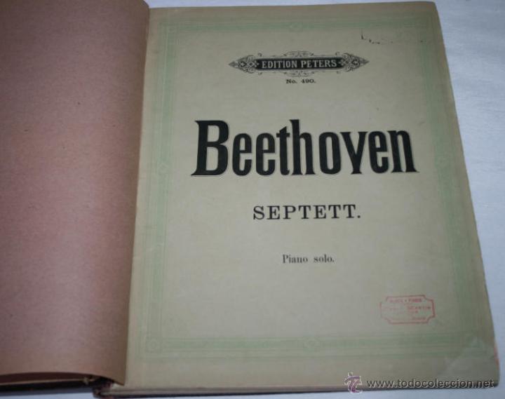 Libros antiguos: BEETHOVEN, EDICION PETERS, PIANO SOLO, + SONATAS DE MOZART LIBRO ANTIGUO DE MUSICA DE 1915 - Foto 2 - 48647596