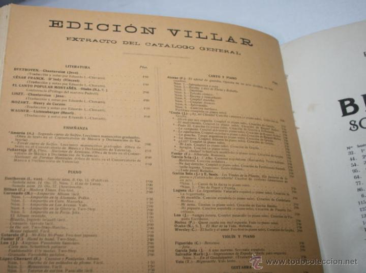 Libros antiguos: BEETHOVEN, EDICION PETERS, PIANO SOLO, + SONATAS DE MOZART LIBRO ANTIGUO DE MUSICA DE 1915 - Foto 5 - 48647596