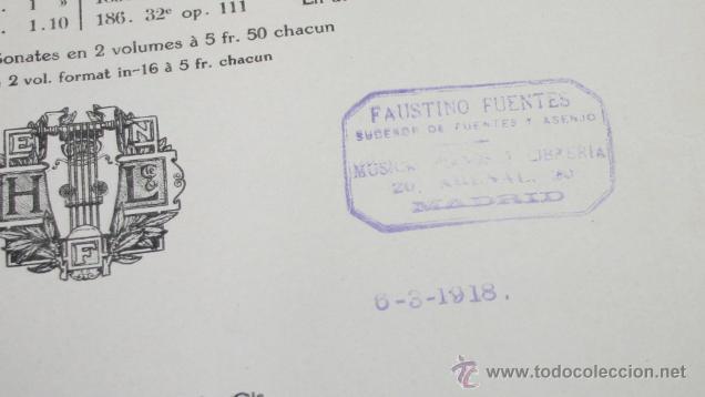 Libros antiguos: BEETHOVEN, EDICION PETERS, PIANO SOLO, + SONATAS DE MOZART LIBRO ANTIGUO DE MUSICA DE 1915 - Foto 9 - 48647596