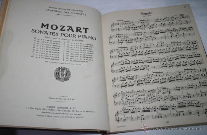 Libros antiguos: BEETHOVEN, EDICION PETERS, PIANO SOLO, + SONATAS DE MOZART LIBRO ANTIGUO DE MUSICA DE 1915 - Foto 10 - 48647596