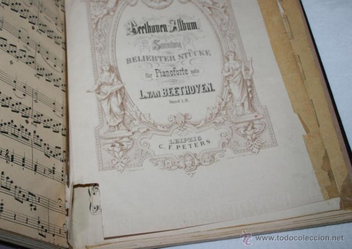 Libros antiguos: BEETHOVEN, EDICION PETERS, PIANO SOLO, + SONATAS DE MOZART LIBRO ANTIGUO DE MUSICA DE 1915 - Foto 11 - 48647596