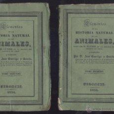 Libros antiguos: CUVIER (J. GARRIGA Y BAUCIS) HISTORIA NATURAL DE LOS ANIMALES. 2 VOLS. VALENCIA, 1834. EDM-5. Lote 49129208