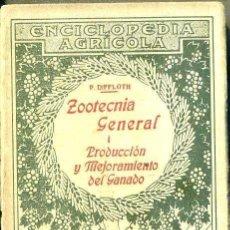 Libros antiguos: DIFFLOTH : ZOOTECNIA I - PRODUCCIÓN Y MEJORAMIENTO DEL GANADO (SALVAT, 1936). Lote 49447600