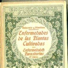 Libros antiguos: DELACROIX / MOUBLANC : ENFERMEDADES PARASITARIAS DE LAS PLANTAS CULTIVADAS (SALVAT, 1931) . Lote 49448033