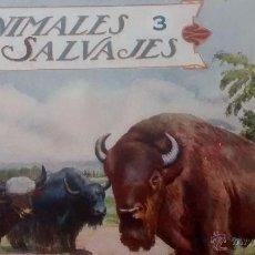 Libros antiguos: ANIMALES SALVAJES. CUADERNOS 3 Y 4.. Lote 24637080