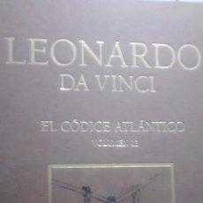 Libros antiguos: LEONARDO DA VINCI / EL CODICE ATLANTICO / VOLUMEN 13 / AUGUSTO MARINONI / 1ª EDICION / 2008. Lote 48269280