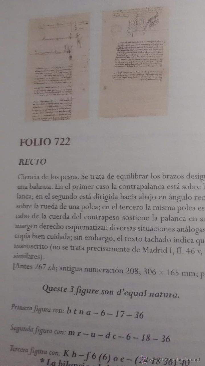 Libros antiguos: LEONARDO DA VINCI / EL CODICE ATLANTICO / VOLUMEN 13 / AUGUSTO MARINONI / 1ª EDICION / 2008 - Foto 4 - 48269280