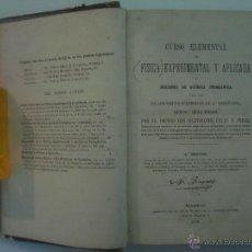 Libros antiguos: FELIU Y PEREZ. FISICA ELEMENTAL Y APLICADA.1878. FOLIO. ILUSTRADO CON GRABADOS. Lote 49867912
