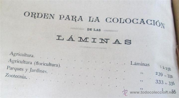 Libros antiguos: Novísimo tratado teórico practico AGRICULTURA Y ZOOTECNIA - ATLAS - Por Joaquín Ribera 1894 - Foto 5 - 49930850