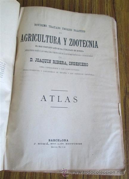 Libros antiguos: Novísimo tratado teórico practico AGRICULTURA Y ZOOTECNIA - ATLAS - Por Joaquín Ribera 1894 - Foto 6 - 49930850