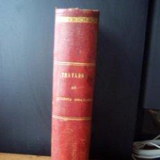 Libros antiguos: TRATADO DE QUÍMICA BIOLÓGICA. ADOLFO WURTZ. VALENCIA 1891. LOMO EN PIEL. Lote 50060233