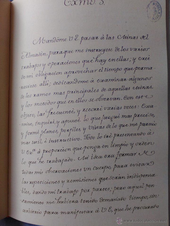 Libros antiguos: Memoria de las Reales Minas de Almadén.1783.Agustín de Betancourt. - Foto 3 - 50107262
