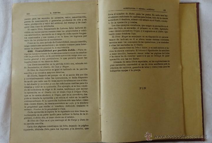 Libros antiguos: Nociones de agricultura y técnica agrícola , Mariano Tortosa y Picón. 1919. - Foto 5 - 50112921