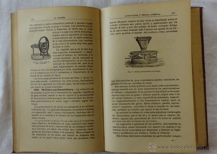Libros antiguos: Nociones de agricultura y técnica agrícola , Mariano Tortosa y Picón. 1919. - Foto 6 - 50112921