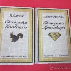 Libros antiguos: ELEMENTOS DE ZOOLOGÍA. ELEMENTOS DE MINERALOGÍA. SCHMEIL. 1926. DOS VOLUMENES. . Lote 50184984