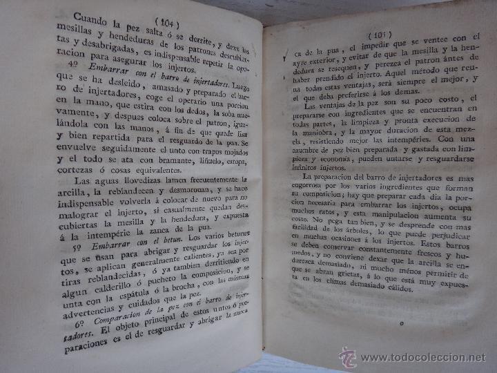 Libros antiguos: LIBRO TRATADO DEL INJERTO , 1817 , CLAUDIO BOUTELOU, ORIGINAL - Foto 3 - 50324293