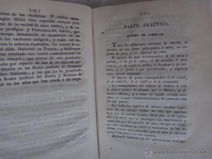 Libros antiguos: LIBRO TRATADO DEL INJERTO , 1817 , CLAUDIO BOUTELOU, ORIGINAL - Foto 4 - 50324293