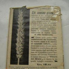 Libros antiguos: LIBROS LA COLTIVAZIONE DEL FRUMENTO ULRICO HOEPLI AÑO 1927 LIBROS EL CULTIVO DE TRIGO ULRICO HOEPLI. Lote 50675247