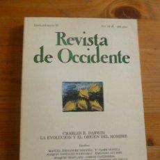 Libros antiguos: REVISTA DE OCCIDENTE. NOV.DICIEMBRE 1982 Nº 18-19.CHARLES DARWIN. 232 PAG. Lote 50734193