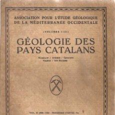 Libros antiguos: LOS CORRIMIENTOS DE LA CORDILLERA MEDIA CATALANA / PALET I BARBA. 1931. 26X20CM. 11 P.. Lote 50864096