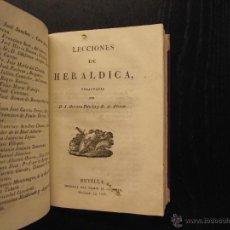 Libros antiguos: LECCIONES DE ESTADISTICA, LECCIONES DE HERALDICA, J. HERRERA DAVILA Y. Lote 51370597