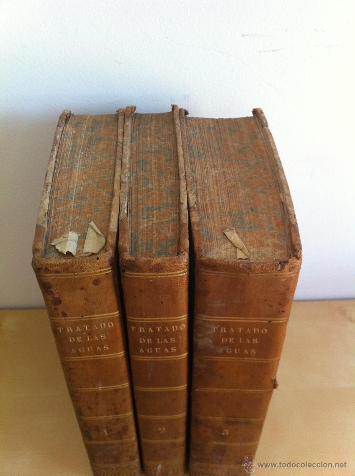 Libros antiguos: TRATADO SOBRE EL MOVIMIENTO DE LAS AGUAS. JOSÉ MARIANO VALLEJO 3 TOMOS. IMP.D.MIGUEL DE BURGOS. 1833 - Foto 4 - 37194969