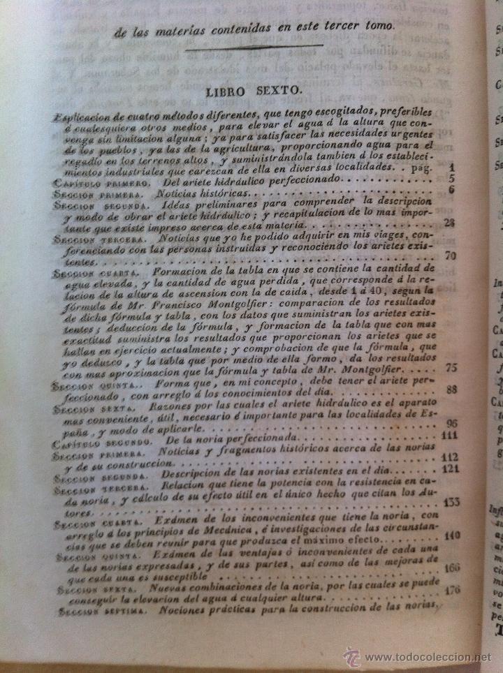 Libros antiguos: TRATADO SOBRE EL MOVIMIENTO DE LAS AGUAS. JOSÉ MARIANO VALLEJO 3 TOMOS. IMP.D.MIGUEL DE BURGOS. 1833 - Foto 67 - 37194969
