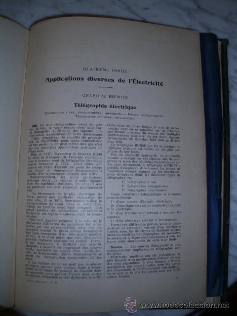 Libros antiguos: OCASIÓN – NOUVELLE ENCYCLOPÉDIE PRATIQUE DE MÉCANIQUE ET D´ELECTRICITÉ – 1924 TOMO III - Foto 18 - 52022439