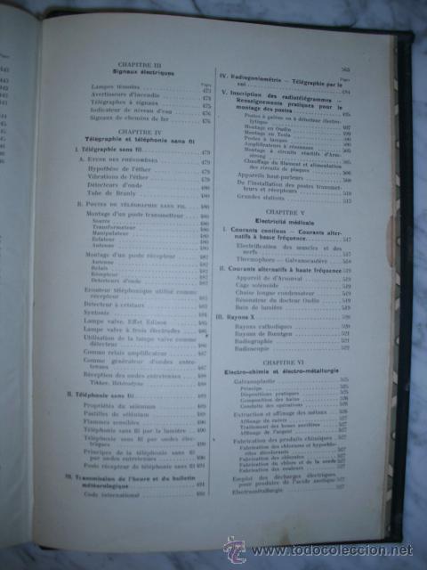 Libros antiguos: OCASIÓN – NOUVELLE ENCYCLOPÉDIE PRATIQUE DE MÉCANIQUE ET D´ELECTRICITÉ – 1924 TOMO III - Foto 23 - 52022439