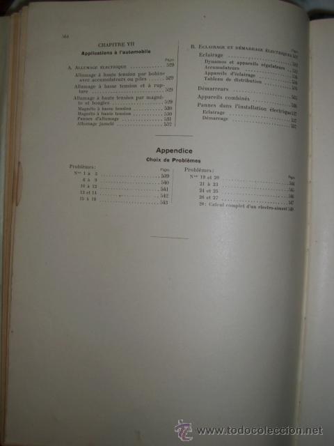 Libros antiguos: OCASIÓN – NOUVELLE ENCYCLOPÉDIE PRATIQUE DE MÉCANIQUE ET D´ELECTRICITÉ – 1924 TOMO III - Foto 24 - 52022439