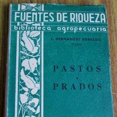Livros antigos: PASTOS Y PRADOS - POR L. HERNANDEZ ROBREDO - BIBLIOTECA AGROPECUARIA EDITORIAL MANUEL MARTIN 1933. Lote 52080201