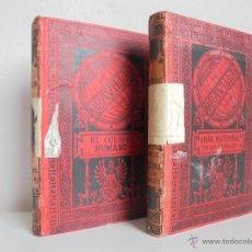 Libros antiguos: BIBLIOTECA DE MARAVILLAS. ERNESTO MENAULT. A. LE PILEUR. 1885-1886. 2 VOLUMENES. EL CUERPO HUMANO Y. Lote 52524378