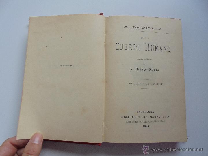 Libros antiguos: BIBLIOTECA DE MARAVILLAS. ERNESTO MENAULT. A. LE PILEUR. 1885-1886. 2 VOLUMENES. EL CUERPO HUMANO Y - Foto 11 - 52524378