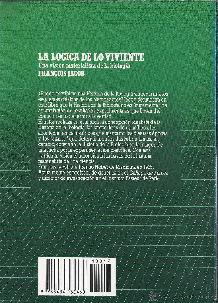 Libros antiguos: LA LÓGICA DE LO VIVIENTE Francois Jacob BIBLIOTECA CIENTÍFICA SALVAT n47 1986 - Foto 2 - 52596733