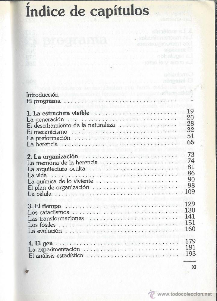 Libros antiguos: LA LÓGICA DE LO VIVIENTE Francois Jacob BIBLIOTECA CIENTÍFICA SALVAT n47 1986 - Foto 3 - 52596733