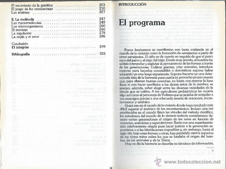 Libros antiguos: LA LÓGICA DE LO VIVIENTE Francois Jacob BIBLIOTECA CIENTÍFICA SALVAT n47 1986 - Foto 4 - 52596733