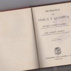 Libros antiguos: LIBRITO DE PROBLEMAS DE FISICA Y QUIMICA. Lote 52849421