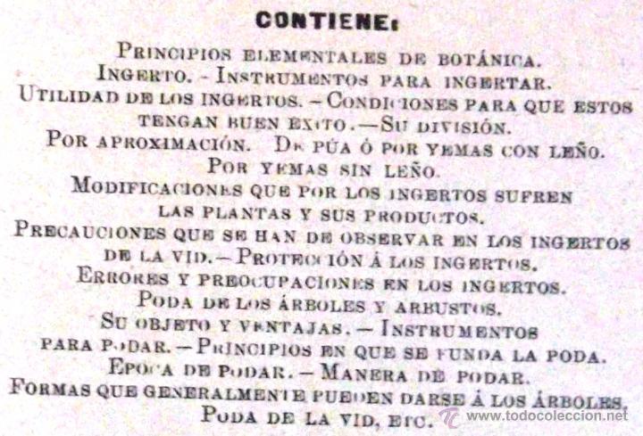 Libros antiguos: Tratado teórico-práctico del injerto y poda. García Moreno Librería de Luis Santos 1916 agricultura - Foto 3 - 53005960