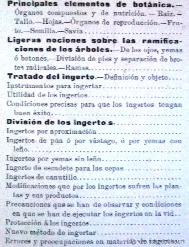 Libros antiguos: Tratado teórico-práctico del injerto y poda. García Moreno Librería de Luis Santos 1916 agricultura - Foto 6 - 53005960