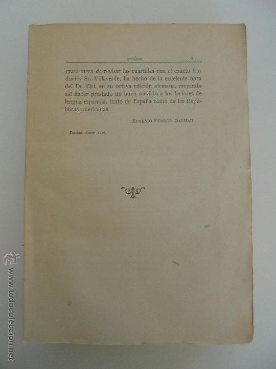 Libros antiguos: TRATADO DE QUIMICA INDUSTRIAL. H.OST. TR. FELIPE VILLAVERDE-EUGENIO FERRER DALMAU. VER FOTOGRAFIAS. - Foto 8 - 53095397