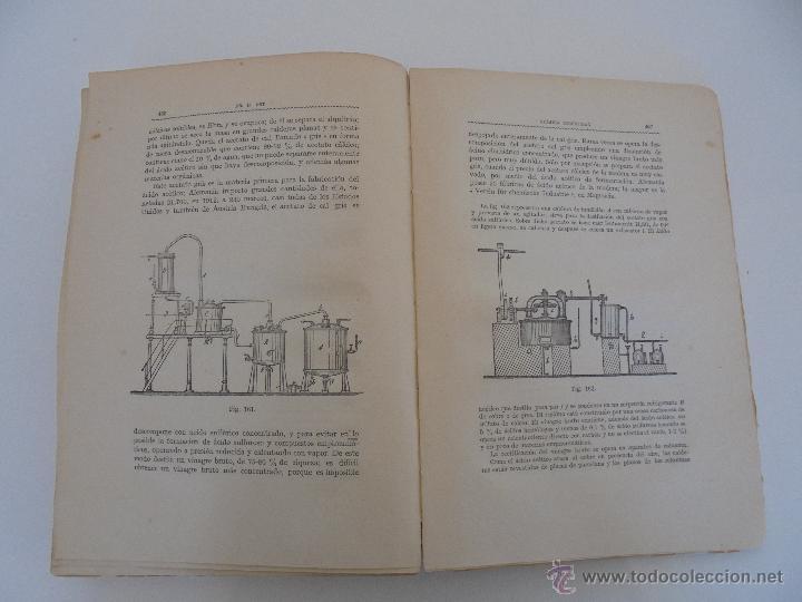 Libros antiguos: TRATADO DE QUIMICA INDUSTRIAL. H.OST. TR. FELIPE VILLAVERDE-EUGENIO FERRER DALMAU. VER FOTOGRAFIAS. - Foto 20 - 53095397